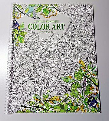 Leisure Arts Jungle Wonders Color Art for Everyone Spiral Coloring Book