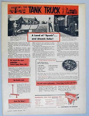 Dated Original 1957 Conoco Oil Ad with Recipe Mrs Myrtle Hanney Detroit Kansas