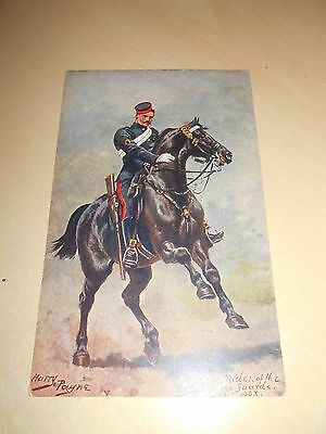 EARLY 1900s HARRY PAYNE PC - ROUGH RIDER OF THE ROYAL HORSE GUARDS - VGC