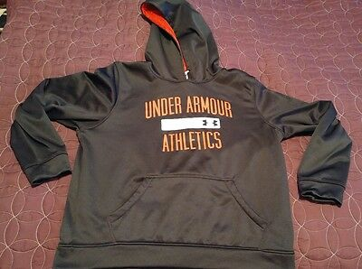 UNDER ARMOUR Loose Fit Pullover Hoodie Sweatshirt - Boys/Youth XLG spelled out