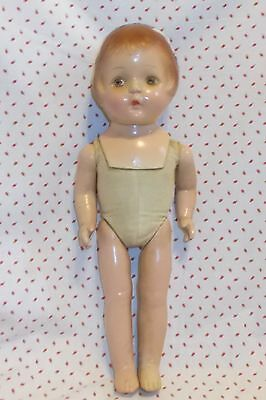 "14"" COMPOSITION & Cloth SALLY American Character doll Parts, fix & restore"