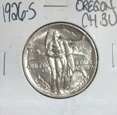 1926-S Oregon Commemorative Silver Half Dollar ~ Ch/bu