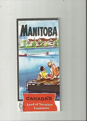 1960's MANITOBA VACATION TOURIST BROCHURE WITH MAP