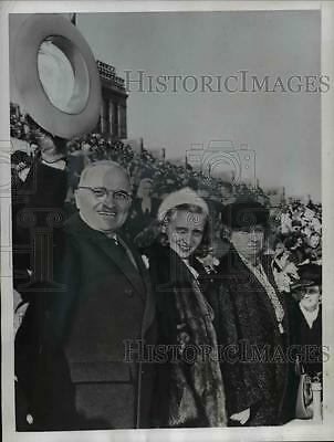 1945 Press Photo President & Mrs Harry Truman at Philadelphia for Army Navy game