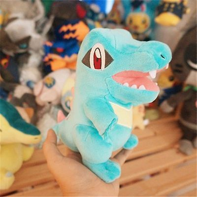 """7"""" Official Pokemon Plush Totodile Soft Toy Pocket Monster Doll Christmas Gift"""