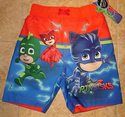 NWT PJ Masks swim shorts swim trunks  4T