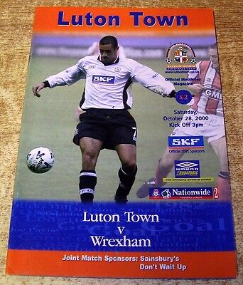 2000/01 DIVISION TWO - LUTON TOWN v WREXHAM - 28 OCTOBER 2000