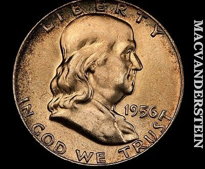 1956 Franklin Half-Choice Gem Brilliant Uncirculated!! Luster!! #m7952