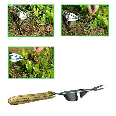 Stainless Steel Single Trowe Shove Dig Root Device For Weeding &Pulling Seedling