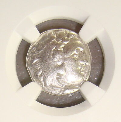 336-323 BC Alexander III the Great Ancient Greek Silver Drachm NGC VF