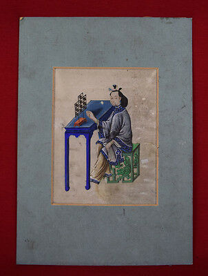 Antique Chinese Painting on pith paper rice paper