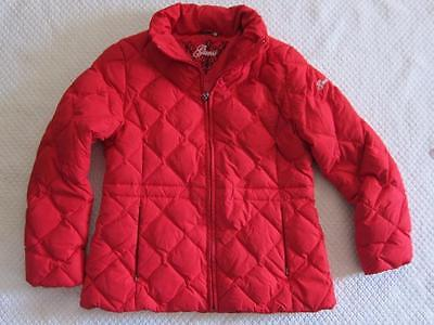 Guess Down coat womens quilted L winter warm parka zip up no hood