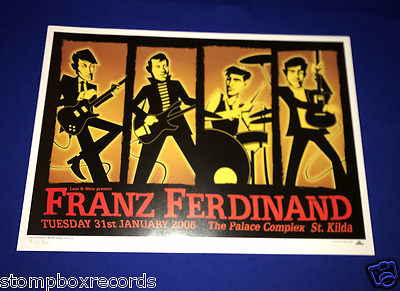 2006 Franz Ferdinand Palace Australia CONCERT POSTER NUMBERED 82/500 14x19in