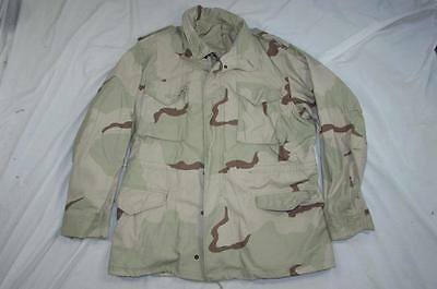 Vtg 90s 1991 US Army Desert Camouflage M-65 Field Jacket Coat Large-Long