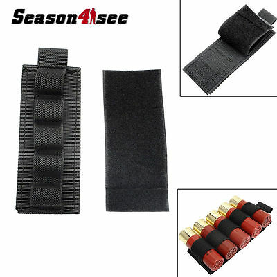 Tactical Airsoft 5 Round Shotgun Shell 12 GA Ammo Carrier Holder Pouch Hunting