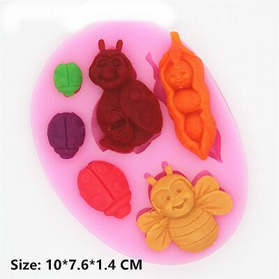 Bee Insects Silicone Cake Mould Fondant Sugar Craft Chocolate Decorate Tool