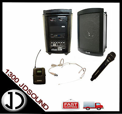 Chiayo Challenger 150W portable PA 2x wireless microphones Bluetooth SD USB