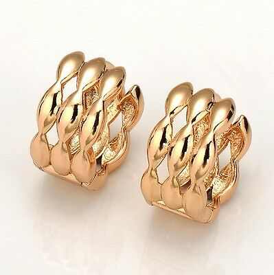 18k Yellow Gold Filled Womens Earrings Huggie Charms Hoops Fashion Jewelry Hot