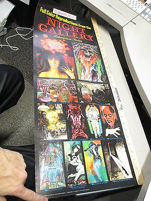 Rod Serling 1972 NIGHT GALLERY TV show store display poster Lon Chaney monster