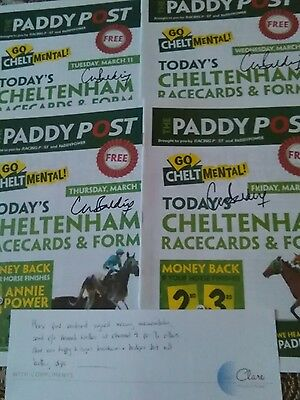 Signed horse racing items Cheltenham gold cup week 2014