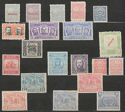 U/l988 - Paraguay: 1939-52 -Fine Stamps-Overprinted- Famous Peoples -Mh *-Mnh **