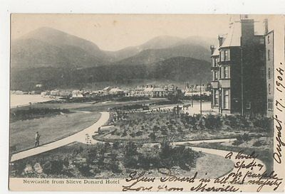 Newcastle From Slieve Donard Hotel Down 1904 Postcard 293a