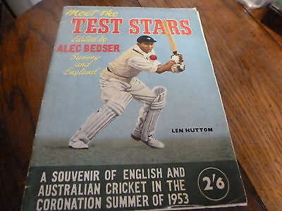 Meet The Rest Stars 1953 With 4 Autographs Washbrook Compton Barnes Lindwall