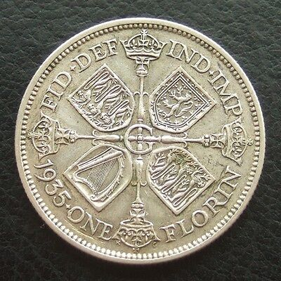 GB 1935 Florin / 2 Shillings : King George V : British Silver Coin Auction