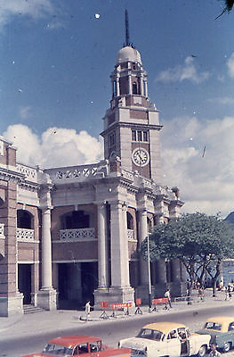 35mm SLIDES :  KOWLOON HONG KONG IN THE 1950's : RAILWAY STATION & BUILDINGS