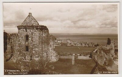 Fife postcard - St Andrews, Fore Tower & Courtyard - RP