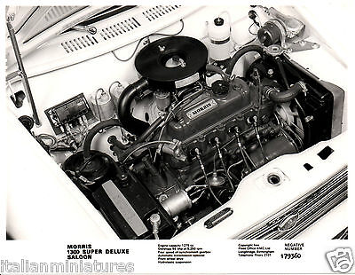 Morris 1300 Super Deluxe 1275 Engine Original Press Photograph