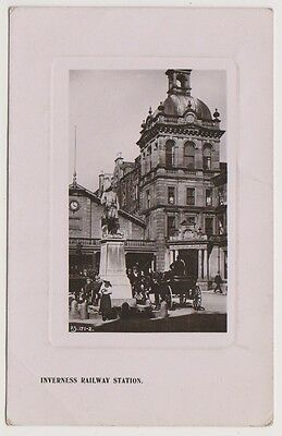 Inverness-shire postcard - Inverness Railway Station - RP