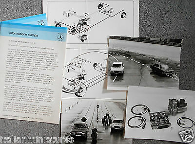 Mercedes Benz 450 SEL ABS System Press Release 1978 Photograph x 3 Italiano
