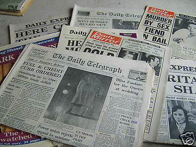 8 1973 Princess Anne Royal Wedding original UK newspapers, unfolded exc' cond'