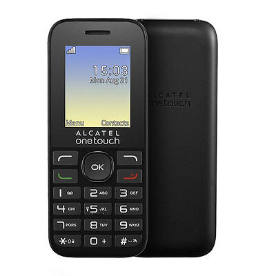 """Alcatel OneTouch 10.16G Mobile Phone Black 1.8"""" Screen With FM Unlocked Sim Free"""