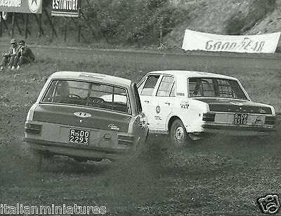Ford Cortina MKII GT Rally Cross Original Italian Photograph Race Action