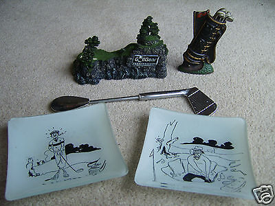 Collection of assorted Golf souvenirs / desktop items, 1970's onwards