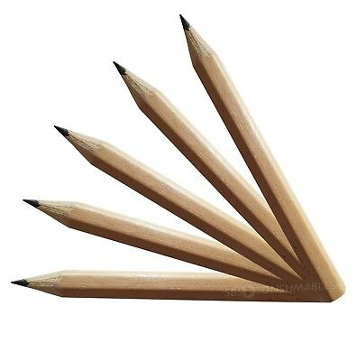 Golf Pencils Wooden HB Half Size, Pre-Sharpened. Score, note taking. 144 per Box