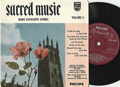 "Sacred Music Volume V More Favourite Hymns (14911) 7"" EP 1958 Philips ABE 10209"