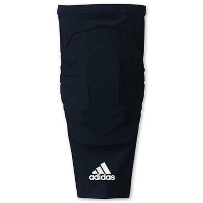 adidas Men's Basketball Padded Leg Sleeve Knee Pad Sport Compression Fit - Blue
