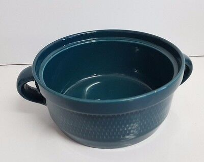Stavangerflint Ildfast Norway retro 1960s Teal Ceramic Plant or Cooking Pot