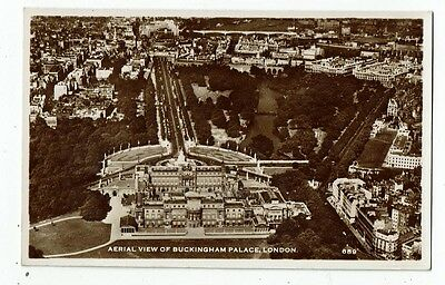 Post Card Real Photo Aerial View Of Buckingham Palace, London