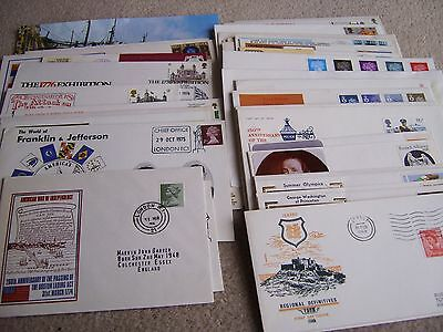 Over 50 Assorted First Day Covers & Postal Covers, 1960's + UK & USA + others