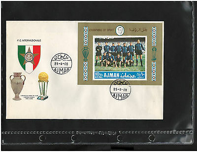 AJMAN, COVER, FDC, SOCCER, Sport, Italy - IMPERFORATE