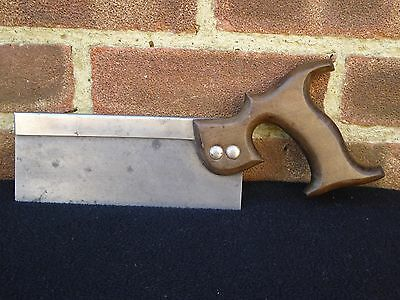 """Vintage Unnamed Dovetail 8"""" Tenon Saw 13 TPi Old Tool"""