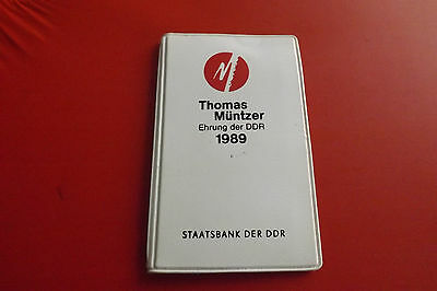 *DDR Thomas Müntzer Set 1989 * 2 x 5 Mark + Medaille