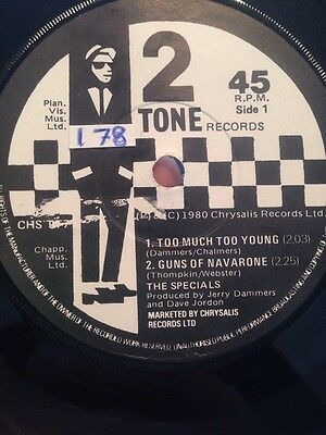 THE SPECIALS - Too Much Too young CHS TT7 Irish Press Rare VG+