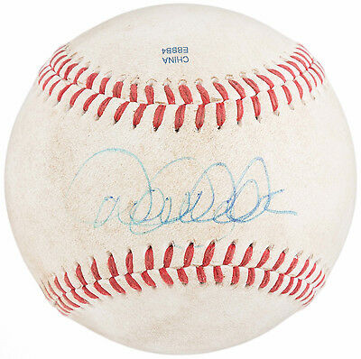 Derek Jeter Signed 2011 Game Used Trenton Eastern League Baseball - STEINER MLB