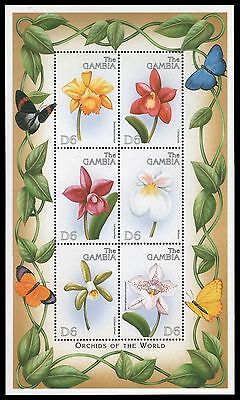 Gambia 1999 - Mi-Nr. 3379-3384 ** - MNH - Orchideen / Orchids