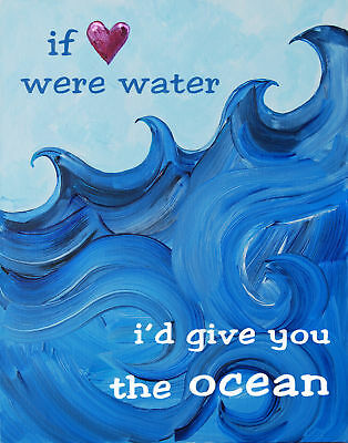 Cici Art Factory Nautical I'd Give You The Ocean Paper Print